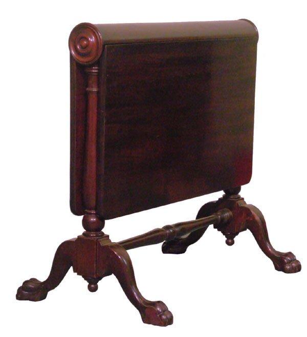 14: Circa 1900 Chippendale Revival tuckaway table, soli