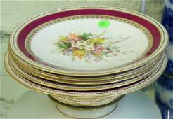 156: Five piece porcelain luncheon set, Wooster, Englan