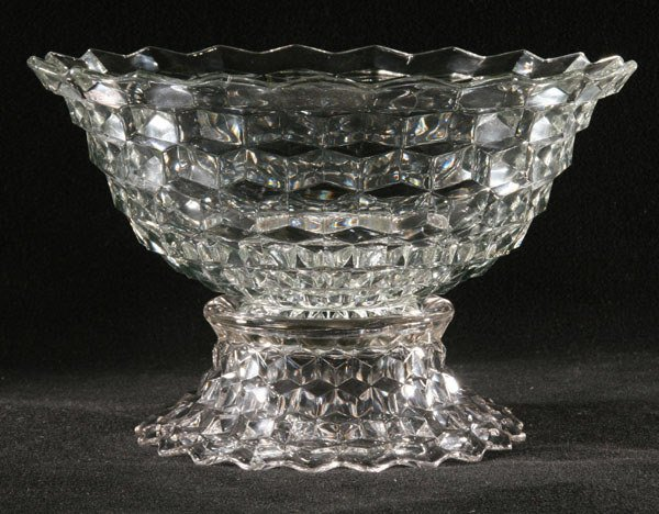 "1020: Large 14"" two piece punch bowl, Fostoria America"