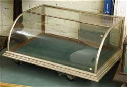 1026: Late 1800 counter top display cabinet, curved fro