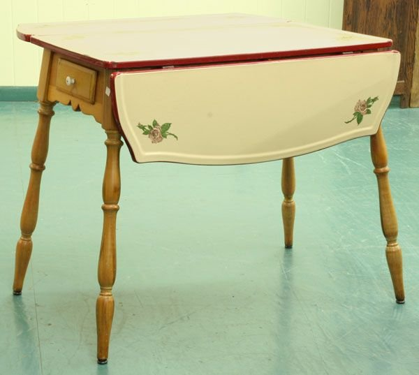 1309 1920s drop leaf kitchen table - Drop Leaf Table Kitchen