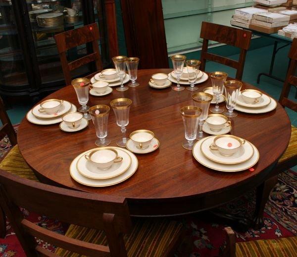 1054B: Ninety piece porcelain dinner service, Lennox, f