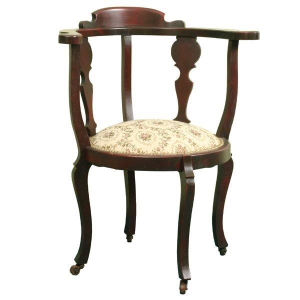 1006: Circa 1900 Colonial Revival corner/sword chair, c