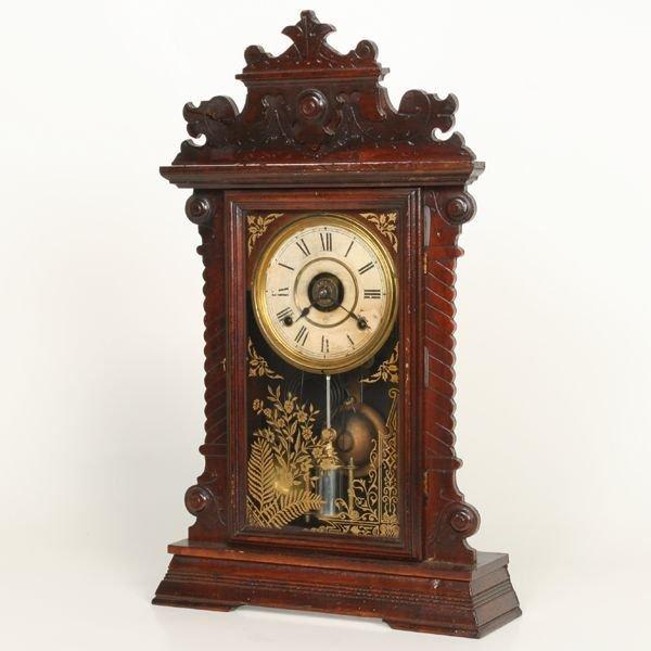 1007: Late 1800's Victorian mantle clock, Seth Thomas,