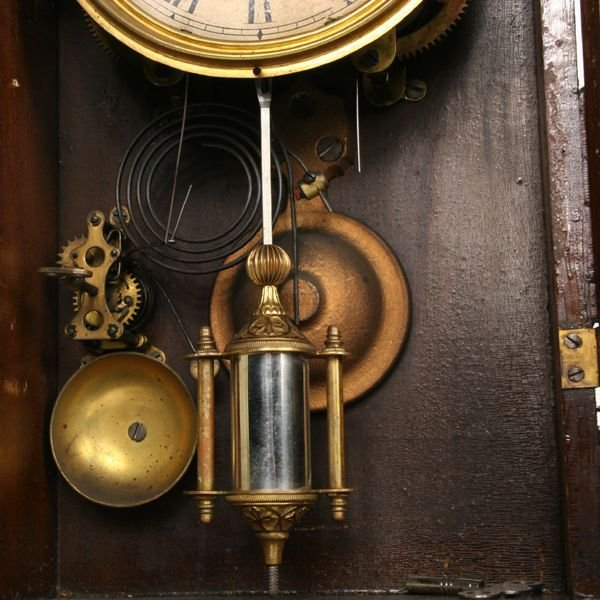 1007: Late 1800's Victorian mantle clock, Seth Thomas,  - 3