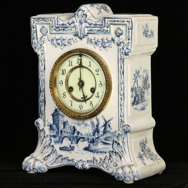 1015: Unusual circa 1900 China clock, Waterbury Clock C