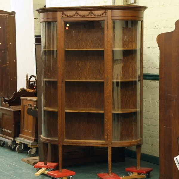1024: Circa 1900 Colonial Revival round China cabinet,