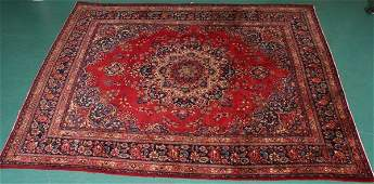 1146 Old Persian Kerman rug 97 x 129 maroons bl