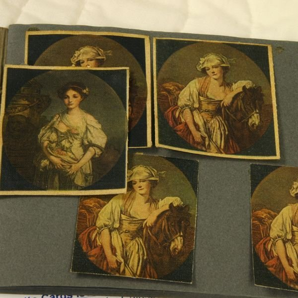 1255: Lot of fifty six printed silk cigarette cards, Ba