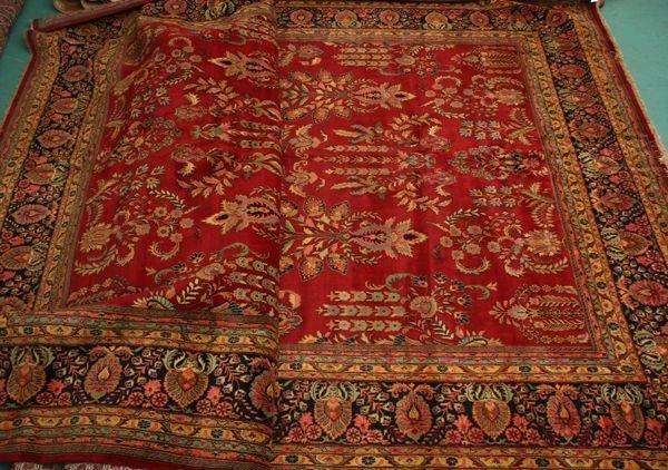 "1076: 13' x 21'3"" Super Sarouk rug, multi borders, b"