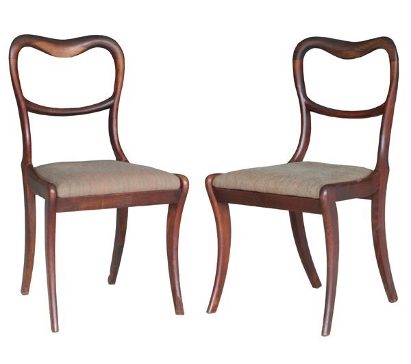 18: Fine set of eight early 1800 saber leg dining chair