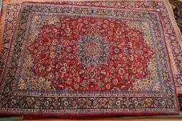 256 Old Persian Isfahan rug 92 x 12 4 reds