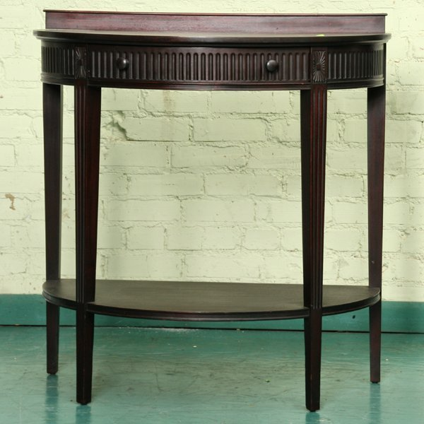1017: Colonial Revival 1940's Adams style console and m