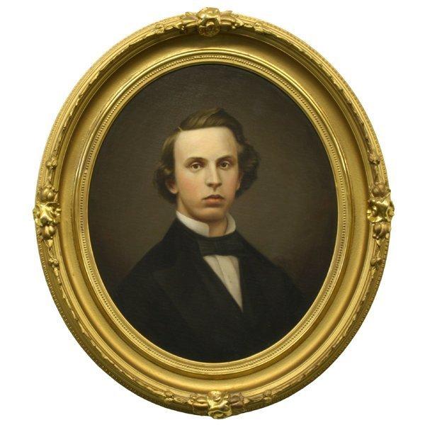 16: Mid 1800's portrait of gentleman, beautiful two ton