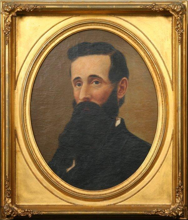 27: 19th century portrait of bearded gentleman, gilt fr