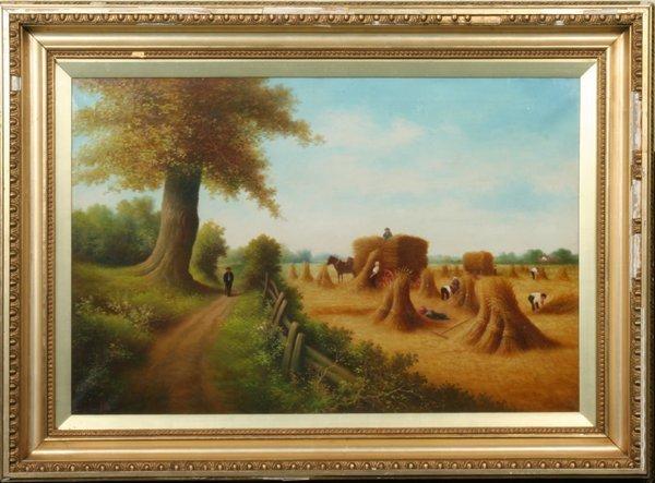 37: 19th century oil on canvas, signed SEB on lower lef