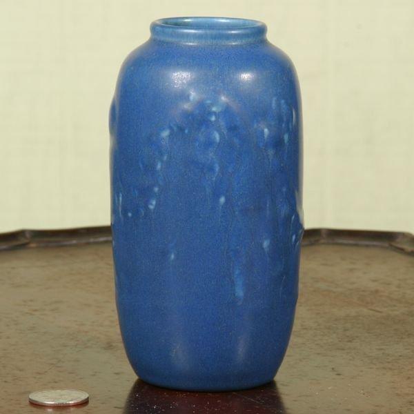 1003: 1930 small Rookwood pottery vase, matte blue glaz