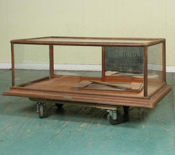 1017: Circa 1900 counter top showcase, Burge-Huck Mfg.,