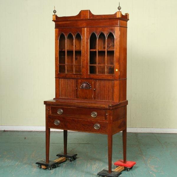 1119: Fine mid 1900 Hepplewhite style custom made secre