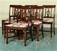 1206: Mid 1900's eight piece Duncan Phyfe style dining