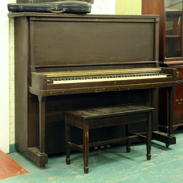 1258: 1258Upright piano with bench, Jesse French & Co.,