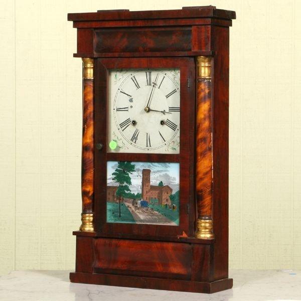 2: Mid 1800 Empire shelf clock, Chauncey Jerome, New Ha