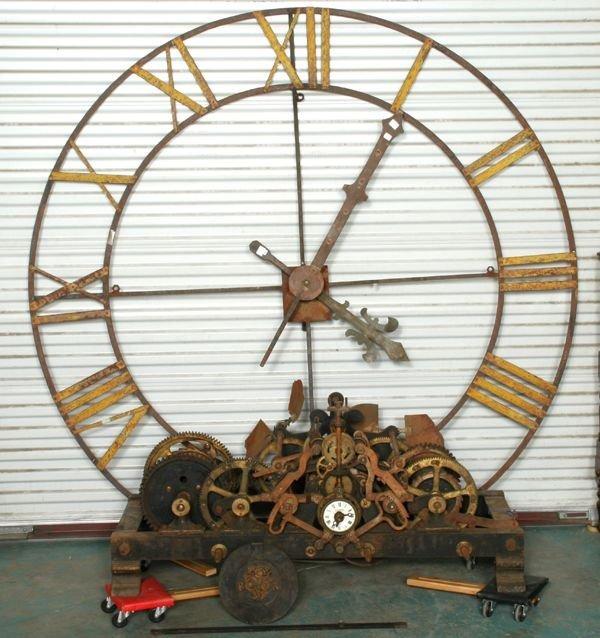 11: Rare large 19th century tower clock, Vigneron, Rest