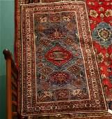 """247: 4'5"""" x 7' old Persian Seneh rug"""