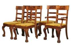 1052: Excellent set of six Colonial Revival dining chai