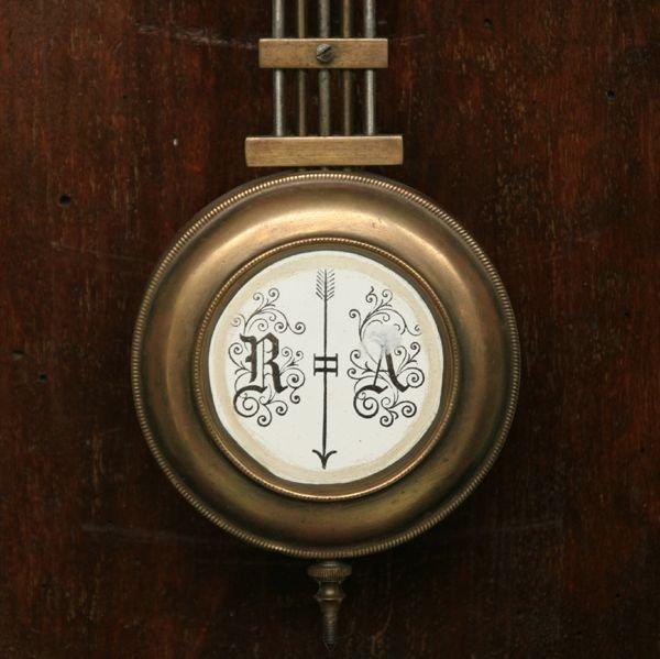 1081: Victorian Vienna wall clock, Junghans brass movem - 3