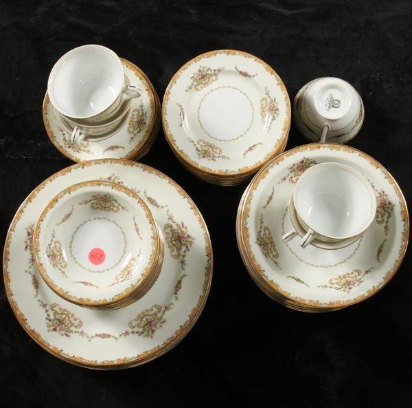 1243: 83 piece porcelain dinner set, Sone China, Japan,