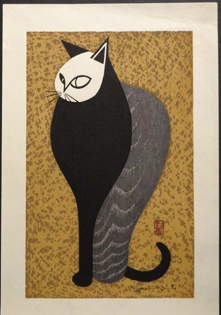 Original Japanese Woodblock Print Kiyoshi Saito