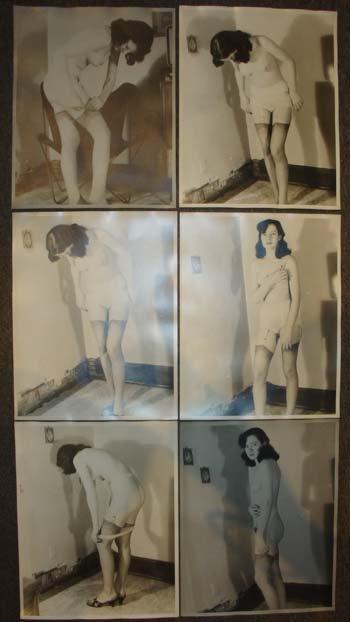 Six Large Vintage Nude Photos