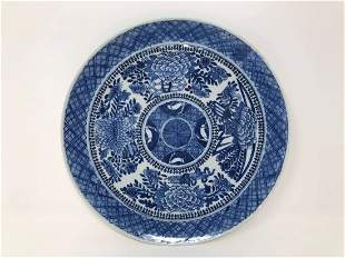 Chinese Blue & White Porcelain Plate Kangxi Period