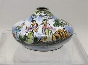 Chinese Fine enamel hand printed snuff bottle.