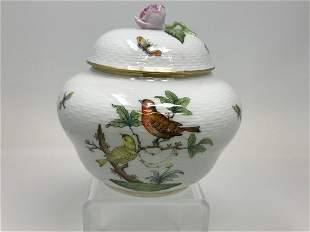 Herend Rothschild Pattern Covered Bowl
