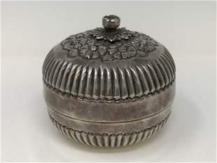 Greek 900 Standard Silver Baklava Bowl & Cover