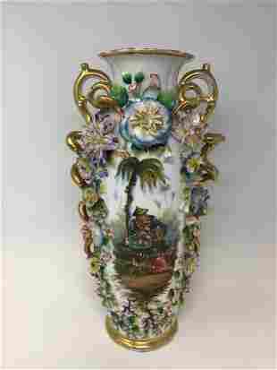 Old Paris Jacob Petit Porcelain Vase