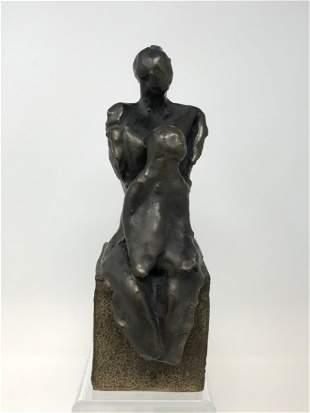 Eva Lapka Ceramic Mother and Child Sculpture