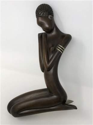 Nude African Girl Werkstatte Haguenauer Sculpture