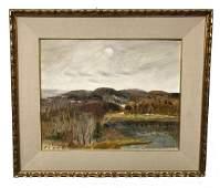 Canadian Louis Muhlstock Landscape Painting