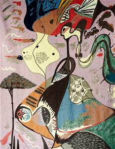 Andre Masson Woven Tapestry 1896-1987
