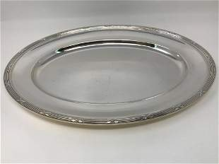 Christofle France Large Oval Silver Plated Platter