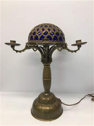 New Munich Arts and Crafts Copper Bronze Table Lamp