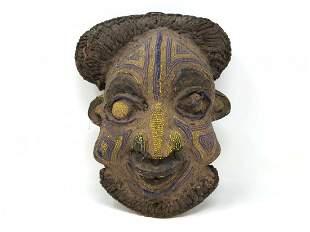 African Bamileke Beaded Mask Cameroon