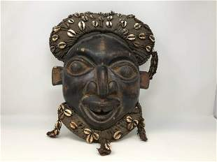 African Bamileke Mask from Cameroon