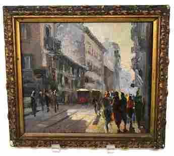 Italian Oil Painting Corso Romano
