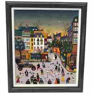 Folk Art Painting Place de L'Alma Paris