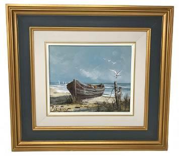 Claude Langevin Seashore Painting