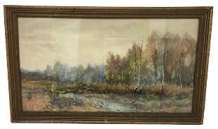 British George Hiscox Landscape Painting
